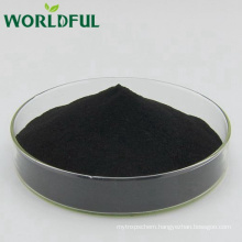 100% water soluble high pure potassium fulvate shiny powder from natural mineral source
